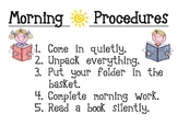 Morning Procedures and Consequences