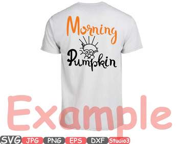 Morning Pumpkin clipart trick or treat Halloween Fall Season Thankgiving 51sv