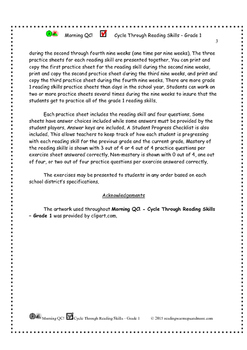 Morning QC! Cycle Through Reading Skills - Grade 1