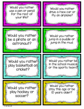 Morning Question Cards