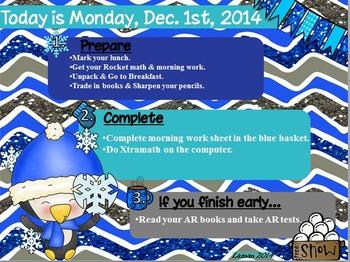 Morning Routine 10 Editable Displays: Winter, Christmas, New Years, MLK