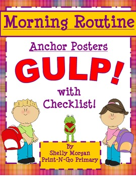 Morning Routine Anchor Chart Mini Posters