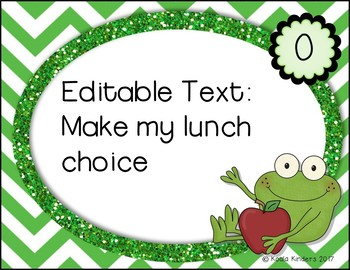 Morning Routine Anchor Charts with Froggy theme EDITABLE!
