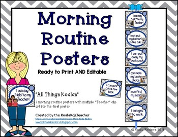 Morning Routine Anchor Posters - All Things Koalas