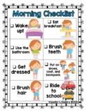 Morning Routine / Before School Visual Checklist - Boy & Girl Versions