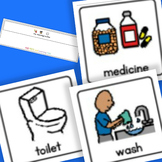 Morning Routine Board and Cards - Boardmaker Visual Aids for Autism SPED