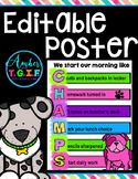 Morning Routine CHAMPS Poster EDITABLE version
