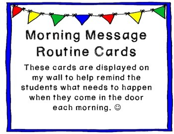 Morning Routine Cards