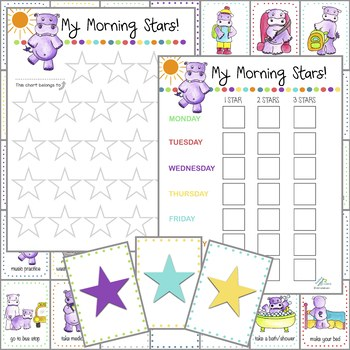 Morning Routine Cards (Visual Schedule & Optional Reward Charts)