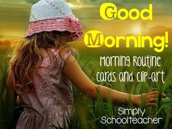 Morning Routine Cards - freebie