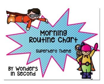 Morning Routine Chart - Superhero Theme