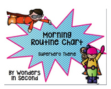 Morning Routine Chart - Superhero Theme