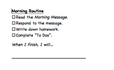 Morning Routine Checklist (2 Versions)- Editable, Customizable Desktop Reference