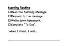 Morning Routine Checklist (2 Versions)- Editable, Customiz