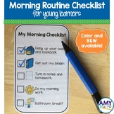 Morning Routine Checklist for Young Learners