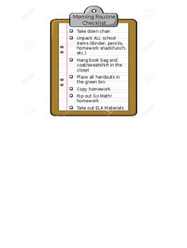 Morning Routine Desk Checklist