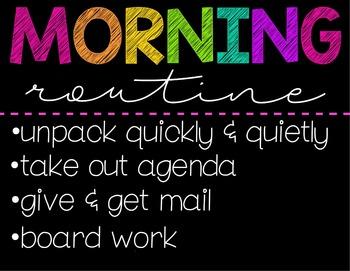 Morning Routine & Dismissal