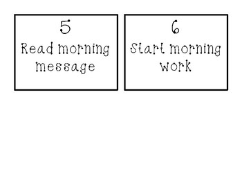 Morning Routine Display Cards