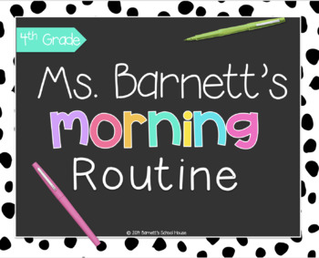 Morning Routine {Editable} Power Point