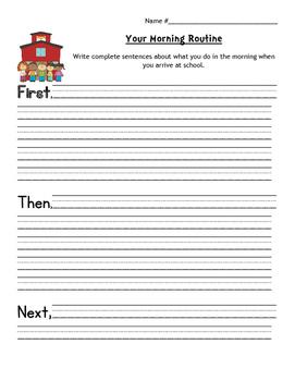 Morning Routine Explanatory Writing