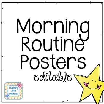 Editable Morning Routine (and others) FREEBIE!