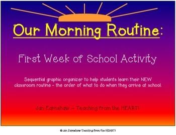 Morning Routine Graphic Organizer