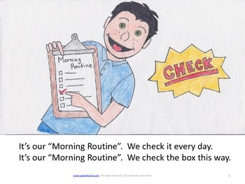 Lesson Plan Bundle: Morning Routine Mp3, Picture Song Book, and more