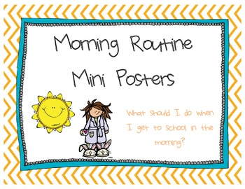 Morning Routine Mini Posters