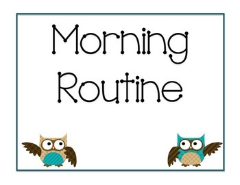 Morning Routine Owl Theme