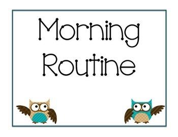 Morning Routine Owl Theme