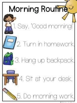 Morning Routine Poster (PBIS)