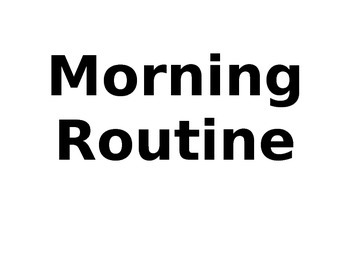 Morning Routine Posters