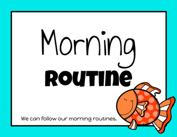 Morning Routine Posters (Fish Version)
