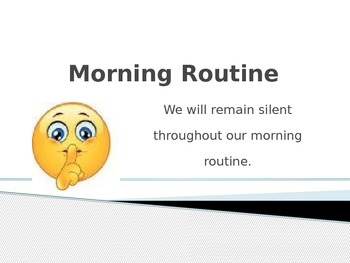 Morning Routine PowerPoint EDITABLE
