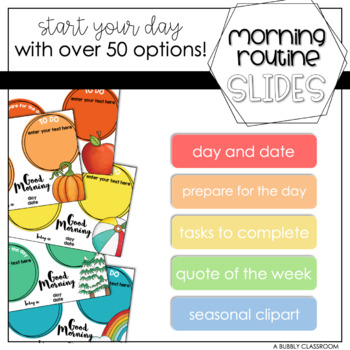 Morning Routine PowerPoint {EDITABLE}