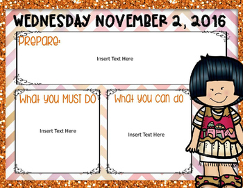 Morning Routine PowerPoint: November 2016 (Editable)
