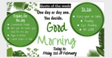 Editable Morning Routine Powerpoint