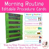 Morning Routine Procedure Cards (Editable)