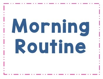 Morning Routine Signs