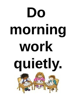 Morning Routine Signs (Vertical)