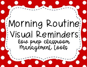 Morning Routine Visual Aid Cards