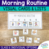Morning Routine Visual Cards for the Classroom