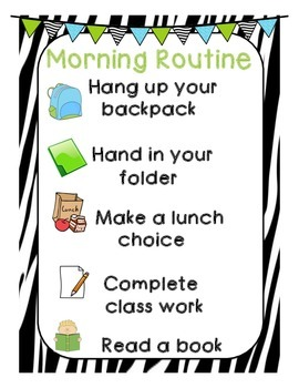 Morning Routine and Pack and Stack Routine Posters