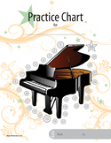 Non-Calendar Based Music Practice Chart (Piano picture)