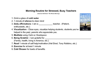 Morning Routine for Teachers