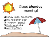 Morning Routine ppt slides- Beach theme