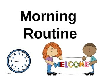 Morning Routine signs (Horizontal)