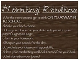 Morning Routine via Power Point