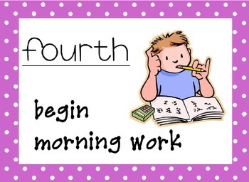 Morning Routine with dots border
