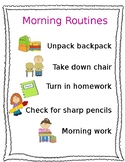 Morning Routines Poster